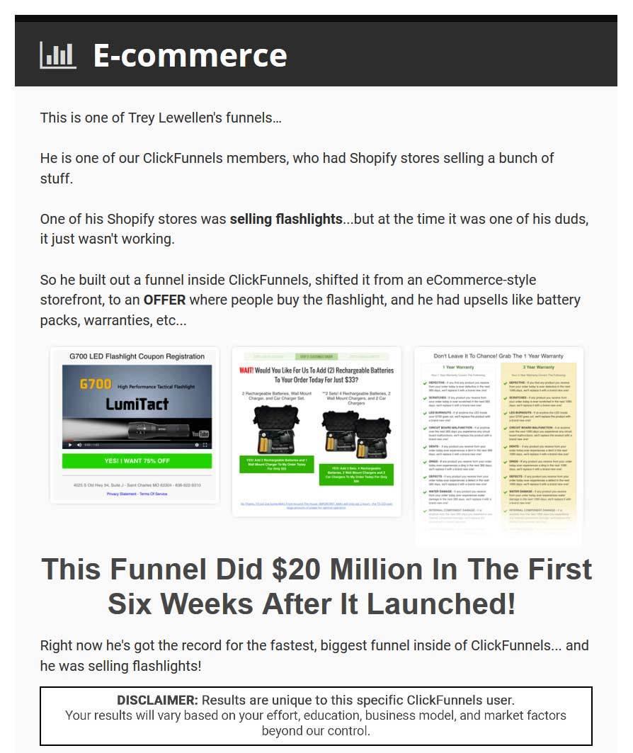 clickfunnels for ecommerce