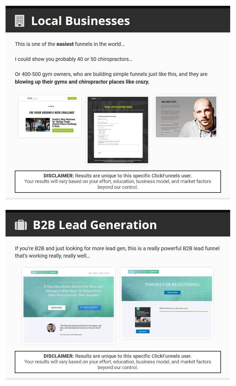 clickfunnels for local businesses