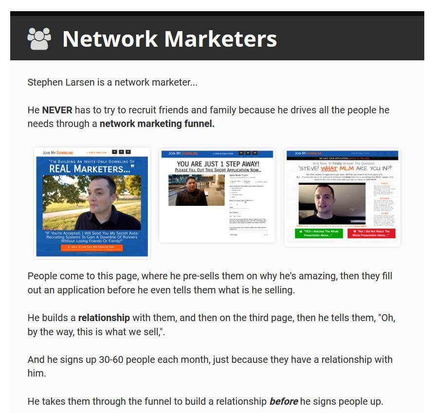 clickfunnels for network marketers